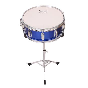 """Glarry 14 x 5.5"""" Snare Drum Poplar Wood Drum Percussion Set With Snare Stent Drum Stand"""
