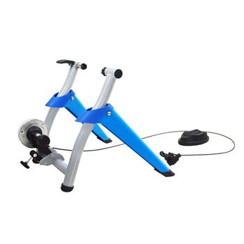 Bike Magnetic Turbo Trainer Bike Trainer Stand with 8 Speed Level Wire Control Adjuster Blue