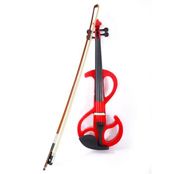 High-grade 8 Pattern Electroacoustic Violin Kit (Case   Bow   Rosin) Red