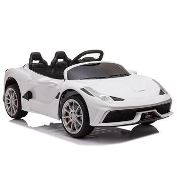 12V Kids Ride On Sports Car 2.4GHZ Remote Control White