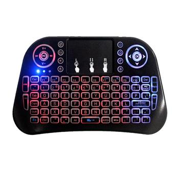 Mini i10 2.4G Air Mouse Wireless Keyboard with Touchpad Black
