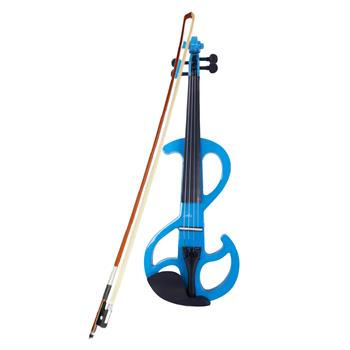 High-grade 8 Pattern Electroacoustic Violin Kit (Case   Bow   Rosin) Blue