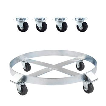 Oshion Heavy Duty Drum Dolly 1000 Pound - 55 Gallon Swivel Casters Wheel Steel Frame Non Tipping Hand Truck Capacity Dollies