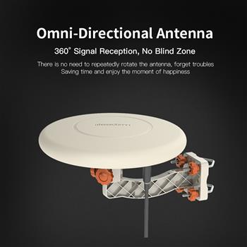 Leadzm TA-A1 150 Miles TV Antenna Indoor Outdoor Omni-directional 360 Degree Reception