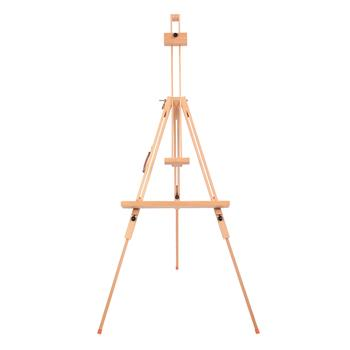 W07E Imported Beech Large Triangle Easel Display Stand