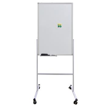 HV2613 Mobile Double-sided Whiteboard 60 * 90cm Horizontal and Vertical Adjustable