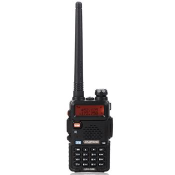"""BAOFENG 1.5"""" LCD 5W 136~174MHz / 400~470MHz Dual Band Walkie Talkie with 1-LED Flashlight Black"""
