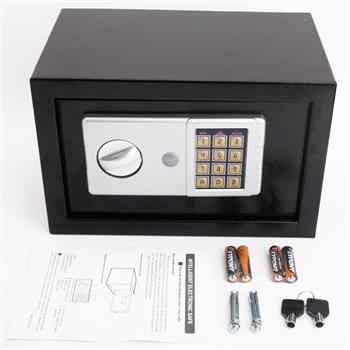 Mini Wall-in Style Electronic Code Metal Steel Box Safe Case 20EA Black