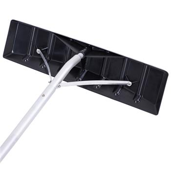 Oshion Extendable Aluminum Snow Rake, 5ft-20ft Sturdy Lightweight PP Snow Removal Tool with Wide Blade & 5-Section Tubes & TPE Anti-Skid Handle, Suita