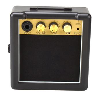 GT-5W Portable Mini Electric Guitar Amplifier Black and Golden  Suitable for Acoustic and Electric Guitars Not for Bass