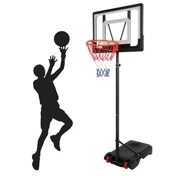 Lx-b03s portable removable PVC transparent board indoor and outdoor basketball stand for teenagers (basket adjustment height 1.2m-2.1m) is suitable fo