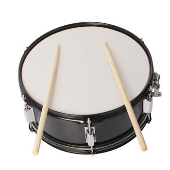 14 x 5.5 inches Professional Marching Snare Drum & Drum Stick & Strap & Wrench Kit Black