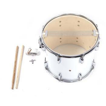 14 x10 inches Marching Drum   Drumsticks   Key   Strap White