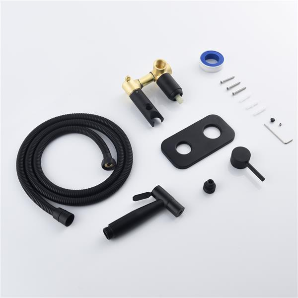 Bidet Sprayer Set Hot and Cold Handheld Toilet Sprayer Kit for Personal Cleaning Black