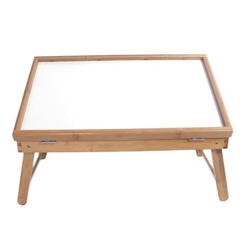 Table Top Adjustable Dining-table Wood Color & White Plank
