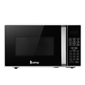 ZOKOP 23PX88-L / Black White 23L / 0.9cuft Conventional Microwave Oven With Display / Silver Handle
