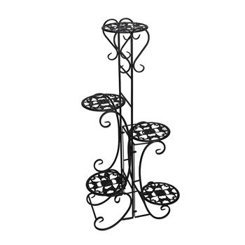 Metal Plant Shelf Stand 5 Tier Shelves Indoor Outdoor