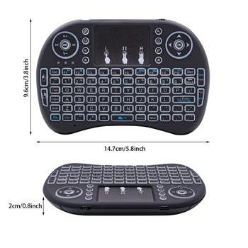i8 Mini 2.4GHz Wireless Keyboard with Touchpad Black
