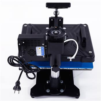 5-in-1 Combined Type Digital Heat Press Transfer Sublimation Machine with Dual LCD Timer Black US St