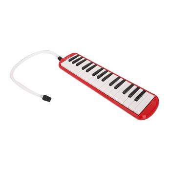 Glarry 32-Key Melodica with Mouthpiece & Hose & Bag Red