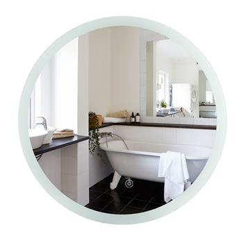 Smart LED Bathroom Mirror Single Key Mode 24*24 inch Circular Anti Fog LED White Light Belt(Color Temperature :5500 K Ultra White) Environmental Prote