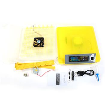 56-Egg Practical Fully Automatic Poultry Incubator (US Standard) Yellow & Transparent