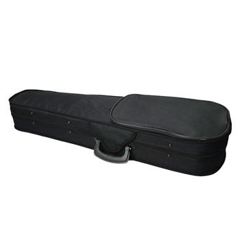 Durable Cloth Fluff Triangle Shape Case with Beige Lining for 4/4 Violin Black