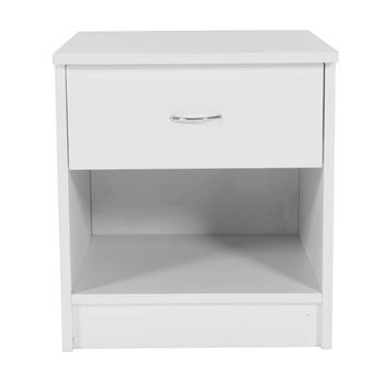 One Drawer Night Stand White