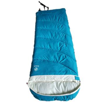 Sleeping bag adult winter thickening single down sleeping bag adult outdoor camping cold and warm-blue