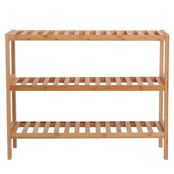 100% Bamboo Shoe Rack Bench, Shoe Storage, 3-Layer Multi-Functional Cell Shelf, Can Be Used For Entrance Corridor, Bathroom, Living Room And Corridor
