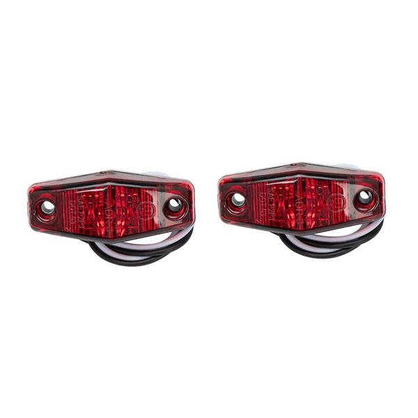 1-Pair Red oval 10 LED surface mount Stop/Turn/Tail lights