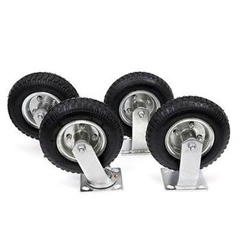 "4pcs 8"" Pneumatic Tool Car Rubber Wheels Black"