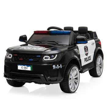 12V Kids Police Ride On Car Electric Cars 2.4G Remote Control, LED Flashing Light, Music & Horn.