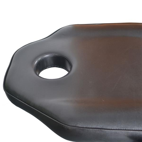 015A Beauty Salon Bed with Stool Black