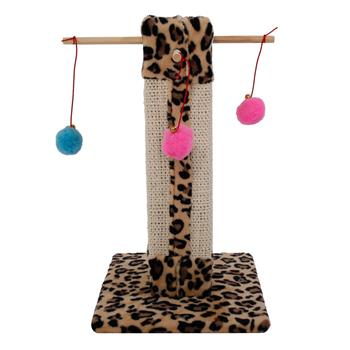 "M34 20"" Stable Cute Sisal Cat Climb Holder Cat Tower Leopard Print"