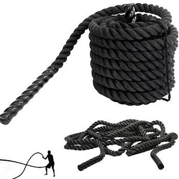 "1.5"" x 30ft Professional Lightweight Fitness Rope Black"