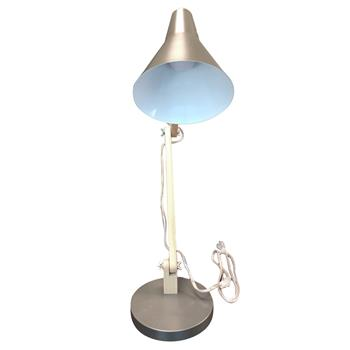Alightup Classical Mini Fashion Frosted Metal Lampshade and Wooden Bracket Texture Study Table Lamp with Light Source US Plug