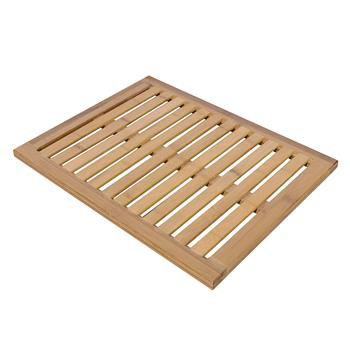 Bamboo Floor & Bath Mat Wood Color