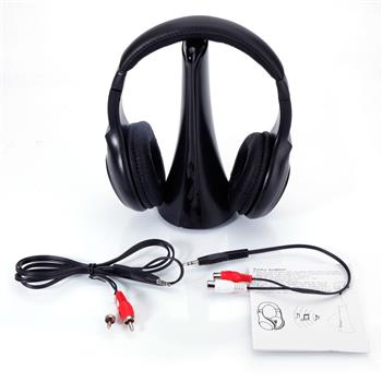 WH-211 4-in-1 Transmitter   Receiver Intelligent Wireless Headphone Black