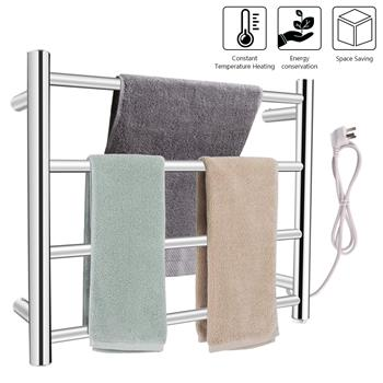 Towel Drying Rack Round Tube (Small Model) Power 80W 110V Constant Temperature 70°C Material 304 Stainless Steel (Button Switch In The Lower Right Cor
