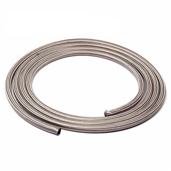 6AN 10Ft General Type Stainless Steel Braided Fuel Hose Silver