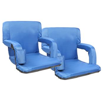 "2pcs 21"" Stadium Seat Cushion Stand Chair Simple Model Navy Blue"