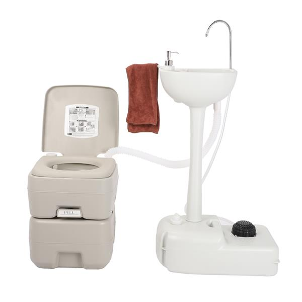 CHH-7701 1020T Portable Removable Outdoor Hand Sink with Portable Toilet