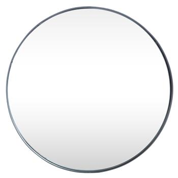 "24"" Round Wall Mirror - Black"