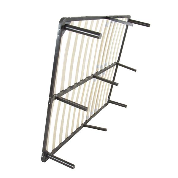 74*53*14 Wooden Bed Slat and Metal Iron Stand Full Size Iron Bed Black