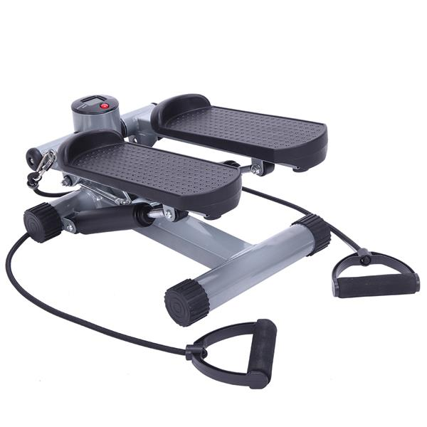 S025 Aerobic Fitness Step Air Stair Climber Stepper Exercise Machine New Equipment Silver