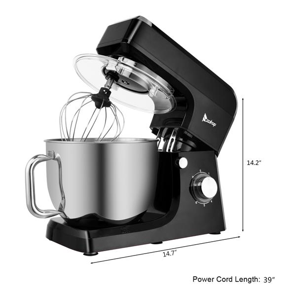 ZOKOP ZK-1511 Chef Machine 7L 660W Mixing Pot With Handle Black
