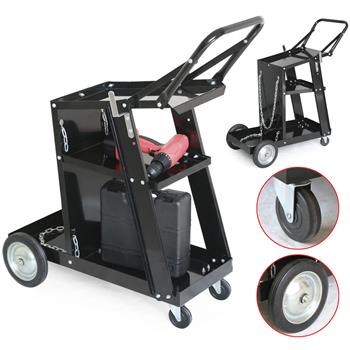 Professional Welding Cart Plasma Cutting Machine without Drawer Black