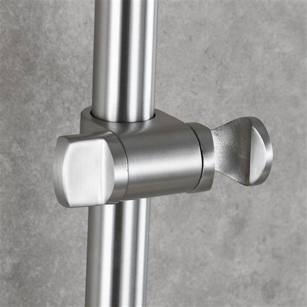 Stainless Steel 31.5-Inch Shower Sliding Bar Drilling-free Bathroom Accessories Brushed Nickel