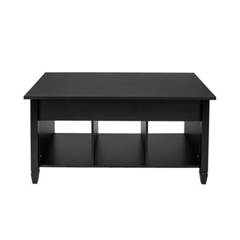 Lift Top Coffee Table Modern Furniture Hidden Compartment And Lift Tabletop Black